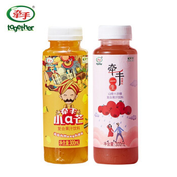 together 牵手 2瓶沙棘+4瓶芒果+6听山楂 300ml/瓶
