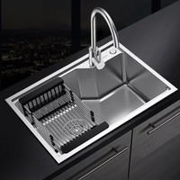 ARROW 箭牌卫浴 304不锈钢厨房水槽套装 先锋款单槽