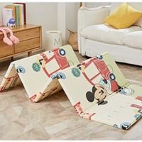 迪士尼(Disney)爬行垫加厚宝宝折叠爬爬垫XPE双面婴儿爬行地垫 XPE折叠维尼数字 米奇量身高180*200*1