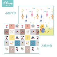 迪士尼(Disney)爬行垫加厚宝宝折叠爬爬垫XPE双面婴儿爬行地垫 XPE折叠维尼气球+方格米奇150*200*1cm