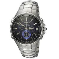 SEIKO 精工 silvertone  SSG009 男式太阳能计时腕表