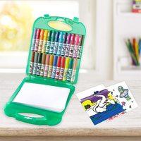 超值黑五、中亚Prime会员:Crayola 绘儿乐 Pip Squeaks 可水洗粗杆水彩笔 25色 含40张绘图纸 *2件