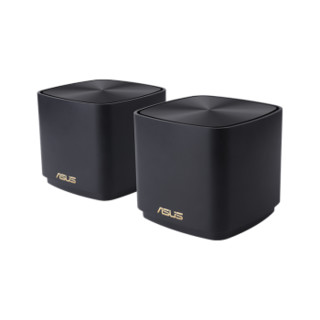 ASUS 华硕 XD4 WiFi6 分布式路由器 两只装 黑色