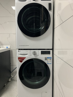 LG洗烘套装到手了。