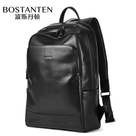 波斯丹顿真皮双肩包男士背包商务休闲旅行包头层牛皮电脑包男包潮