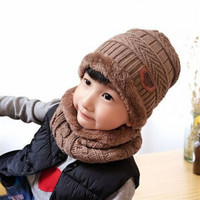 HUIZHI/绘志 儿童帽子围巾口罩两件套