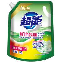 超能 植萃低泡洗衣液 1kg *6件