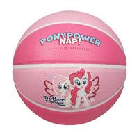 小马宝莉新款校园篮球吸湿PU室内室外水泥地耐磨幼儿园学生儿童训练比赛用球GLP025P5