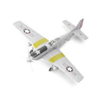 移动专享:靓趣 二战P-51野马战斗机 1:48拼装4D飞机模型  浅灰色