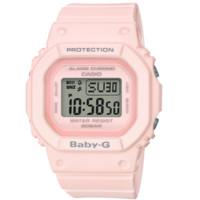 CASIO 卡西欧 经典系列 BGD-560-4 44.7mm 中性电子手表 灰盘 粉色树脂带 方形