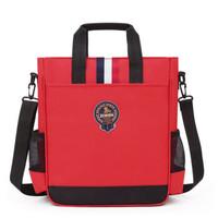 oeny  补课美术袋 可双肩盾牌双层-红色