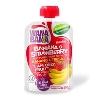 沃纳宝纳( WANABANA )原装进口宝宝儿童零食 香蕉草莓混合果泥果浆90g *10件