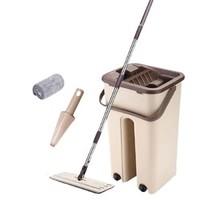 京东PLUS会员:AKADA 家用平板拖把套装 清洗桶+拖把+2拖布+刮刀