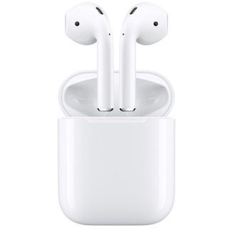 苹果(Apple)iPhone AirPods2代(有线充电盒)苹果耳机 蓝牙耳机 无线耳机 入耳式 适用于11/6等