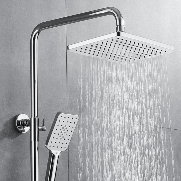 箭牌智能恒温花洒全铜阀芯银色增压浴室卫生间家用淋浴器套装