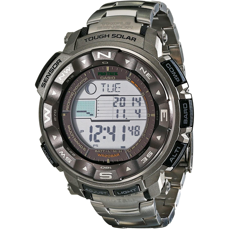 超值黑五 : CASIO 卡西欧 Pro Trek PRW2500T-7CR 登山系列 太阳能数字腕表