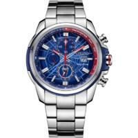 CITIZEN 西铁城 光动能腕表系列 CA0429-53W 男士光动能手表 44mm 蓝盘 银色不锈钢表带 圆形