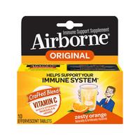 88VIP:Schiff Airborne 维生素C泡腾片橘子味 10粒 *2件