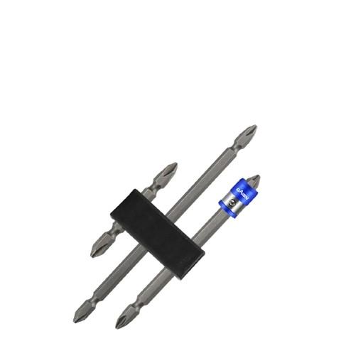 戴恩工具 镜面防锈S2 强磁磨砂批头 3件套+1蓝磁圈