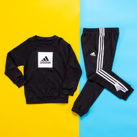 移动专享:adidas 阿迪达斯 男童长袖运动套装 *2件