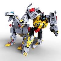 """玩模总动员:《变形金刚》""""机械恐龙""""钢锁 拼装积木"""