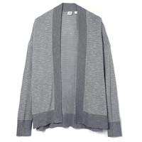 暖爱季:Gap 盖璞 000435672 女装 竹节纹无扣开襟落肩长袖开衫