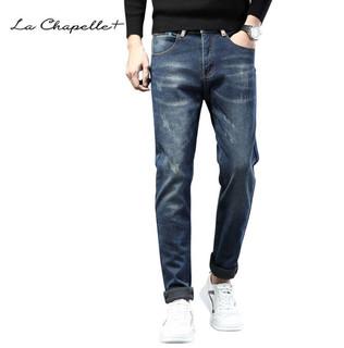 La Chapelle 拉夏贝尔 男士加绒牛仔裤
