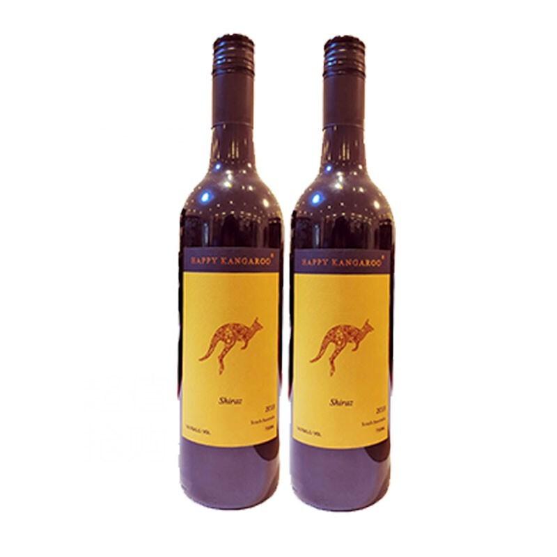Happy kangaroo 快乐袋鼠 西拉子干红葡萄酒 750ml*2瓶