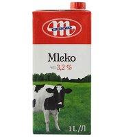 苏宁SUPER会员:Mlekovita 妙可 全脂牛奶 1L*12盒