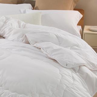 LOVO 乐蜗家纺 澳大利亚羊毛填充四季被 150*215cm 白色