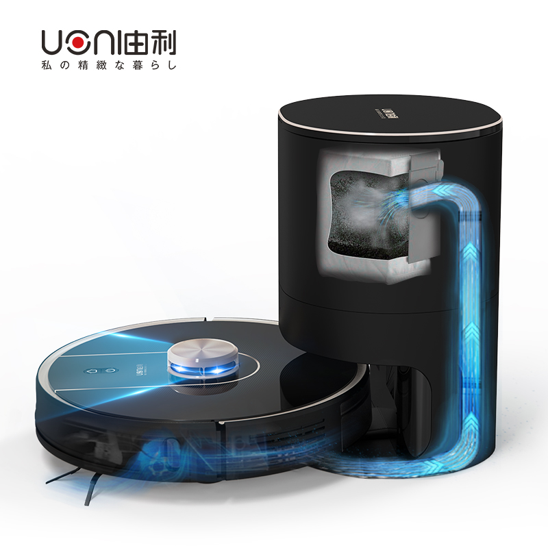 日本UONI由利扫地云智能家用全自动鲸吸扫擦拖地三合一体机