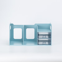 韩国原产SYSMAX MYROOM多功能收纳书架书立含两层抽屉 蓝色