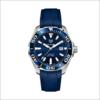 TAG Heuer 泰格豪雅 Aquaracer竞潜系列 WAY201P.FT6178 43mm 男士机械手表 蓝盘 蓝色橡胶带 圆形