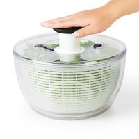 OXO奥秀蔬菜脱水器沙拉甩干机家用大号厨房按压沥水工具洗菜手动