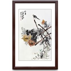国画花鸟画 装饰画 沙发背景墙挂画壁画 秋菊 58x90cm/幅