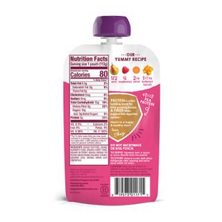 禧贝HappyBABY 有机纤维蛋白果蔬泥 雪梨覆盆子南瓜胡萝卜 113g 美国进口 12个月