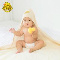 LT DUCK 小黄鸭 婴儿抱被 纯棉宝宝包被 新生儿全棉襁褓小被子 春秋冬四季 浅咖色底色