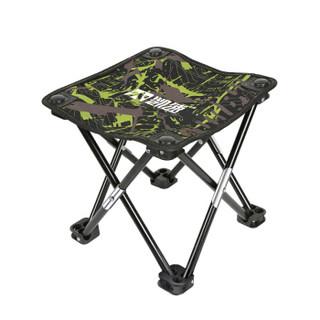 KANSOON 凯速 折叠椅便携式小凳子 简易钓鱼椅 户外休闲马扎 多功能小马扎  迷彩绿 XMZ35