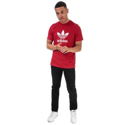adidas红色男性卫衣