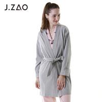 J.ZAO 京东京造 奥黛尔棉质系带睡袍