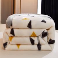 移动专享 : COOE·BUGE 蔲伊·布阁 双层加厚拉舍尔毛毯 150*200cm 4斤