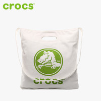 Crocs卡骆驰休闲简约大容量单肩帆布包女购物袋手提包CB02B173034
