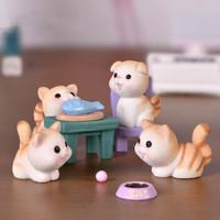 移动端:纳拾逅 卡通小猫diy微景观 7件套(小猫3只+椅子+碗+鱼+ 盘)