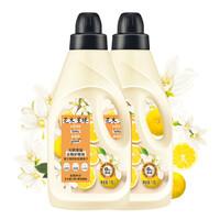 花木星球衣物柔顺剂护理剂 日本柚子香+橙花精油1.8L+1.8L 天然香氛植物柔顺 日本柚子香