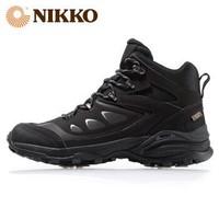 日高(NIKKO)新款登山鞋高帮 户外男鞋防水徒步鞋防滑耐磨登山靴 黑色 42