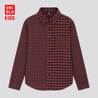 UNIQLO 优衣库 儿童格子衬衫