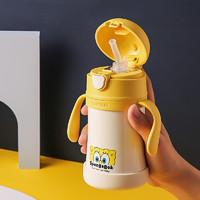 苏宁SUPER会员:BeddyBear 杯具熊 婴儿保温杯带吸管 260ml 海绵宝宝款