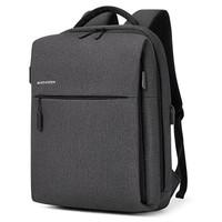 波斯丹顿男士双肩包潮流多功能商务电脑包大容量书包休闲旅行背包男 51深灰色