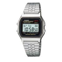 CASIO 卡西欧 G-SHOCK YOUTH系列 A159WA-N1 36.8mm 男士电子手表 灰盘 银色不锈钢带 方形