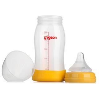 Pigeon 贝亲 AA96 婴儿宽口径奶瓶 黄色 240ml 奶嘴(L号)